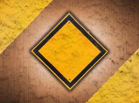 abstract retro vintage of old traffic sign on metal background grunge style photo