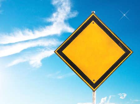 traffic sign under blue sky photo