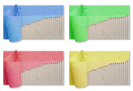 textured brown corrugated cardboard sheet with torn Stock Photo - 9590335