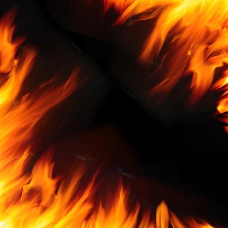 bombero de rojo: Fondo de llama de fuego abstracto