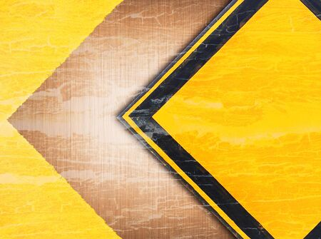 abstract retro vintage of old traffic sign on metal background grunge style Stock Photo - 9631224
