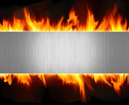 abstract metal and fire flame background Stock Photo - 9748843