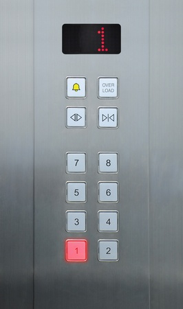 1 floor on elevator buttons photo