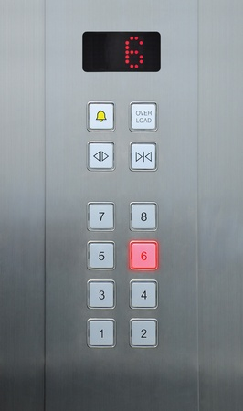 6 floor on elevator buttons photo