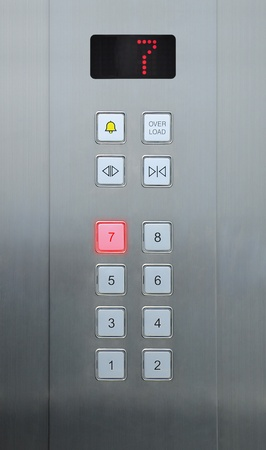 7 floor on elevator buttons photo