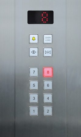 8 floor on elevator buttons photo