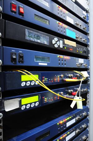 rack server: The communication and internet network server room