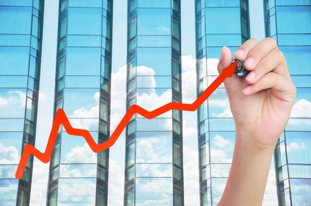 hand drawing business graph Stock Photo - 10418996