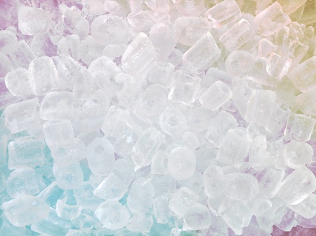 abstract ice cube multicolored for background photo