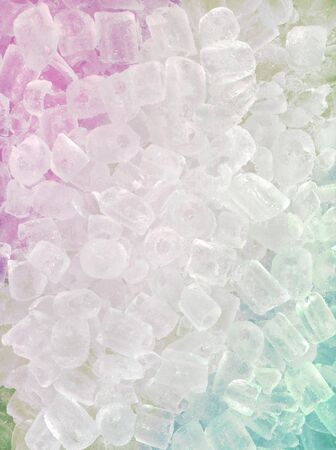 abstract multicolored ice cube use for background photo