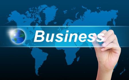 women hand writing business photo