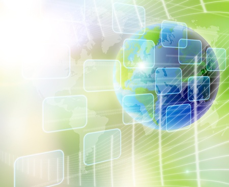 touchscreen: mundo abstracto y el fondo de tecnolog�a