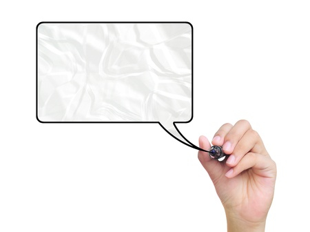 hand drawing frame on white Stock Photo - 11158136