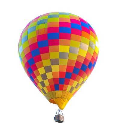colorful hot air balloon isolated on white background Stock Photo