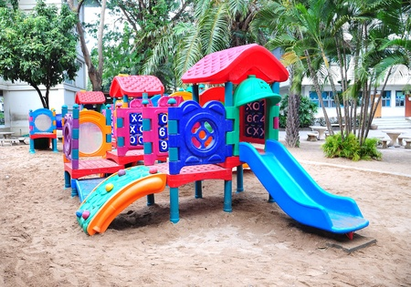Children playground colorful photo