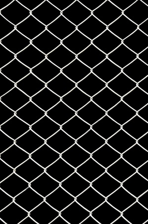 chain link fence: chain link fence isolated on black Stock Photo