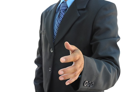 businessman hand to shake photo
