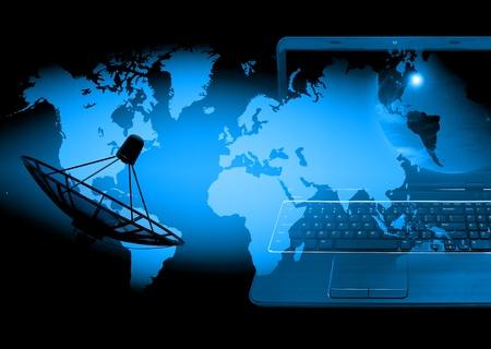 digital globe: abstract world technology background Stock Photo