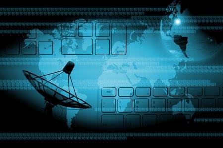 advanced technology: abstract world technology background Stock Photo