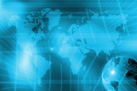 abstract world technology background Stockfoto