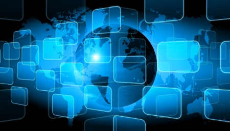 internet  broadband: abstract world technology background Stock Photo