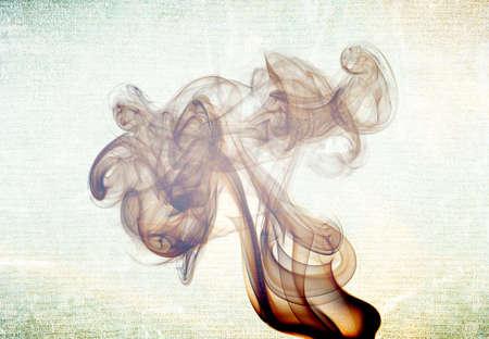 Abstract glowing of smoke isolated on black Stock Photo - 15894487