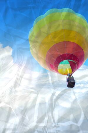 the crumpled of colorful hot air balloon with beautiful blue sky and cloud Stock Photo - 16296574