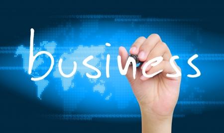 hand writing business photo