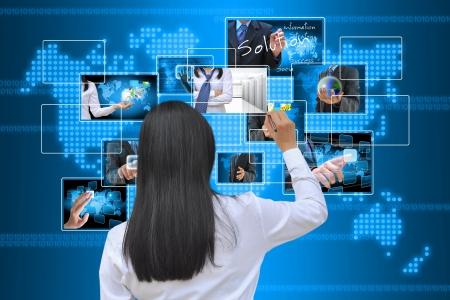 data management: working women hand writing