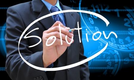 solution d'écriture d'affaires à la main Banque d'images