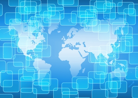 high tech world: abstract world technology background