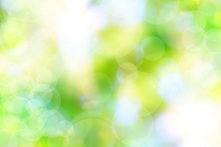 naturally: abstract spring green background and light reflect