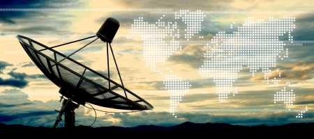 media center: satellite dish antennas