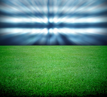 football world cup: soccer field and the bright lights Stock Photo