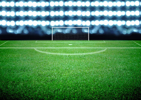 soccer field and the bright lights Stock Photo - 26111629