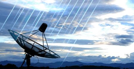 satellite dish antennas under blue sky photo
