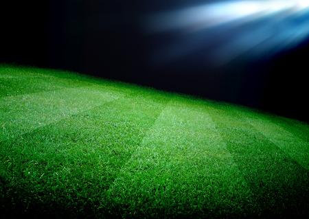 soccer field and the bright lights Standard-Bild