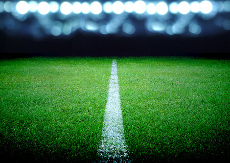 soccer field and the bright lights Archivio Fotografico