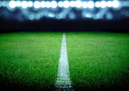 terrain foot: terrain de soccer et les lumières
