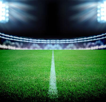 soccer field and the bright lights 版權商用圖片