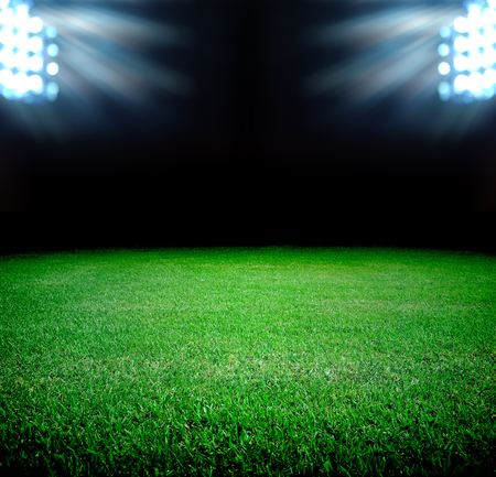 soccer field and the bright lights photo