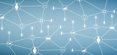 abstract social network and technology background photo