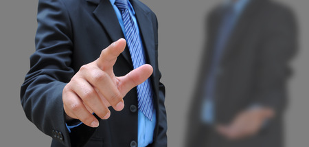 hand of businessman and the friend background photo
