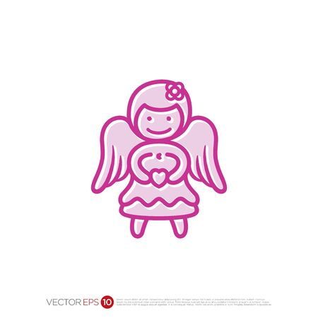 Pictograph holy of Angel for template logo, icon, and identity vector designs.