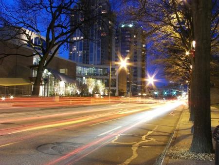 Car Light Streaks Stock Photo