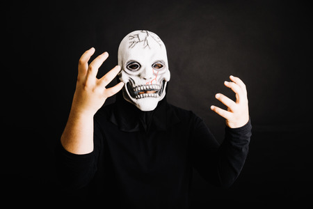 man with  creepy mask