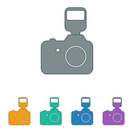 optical image: camera icon on white background.