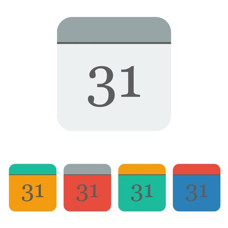 proclaim: calendar icon on white background. Vector icon. Illustration