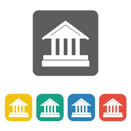 courthouse: courthouse icon on the white background. Vector illustration. Illustration