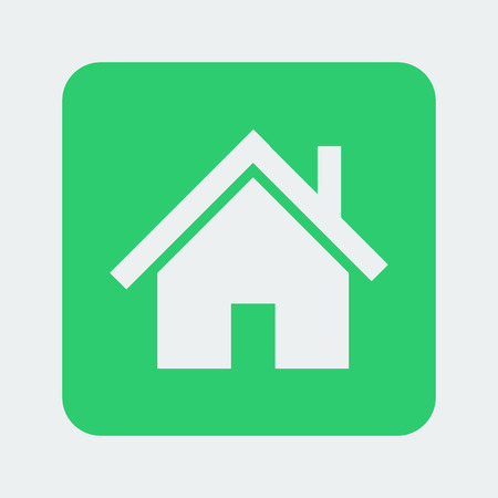 ownership: home icon on the white background. Vector illustration. Illustration